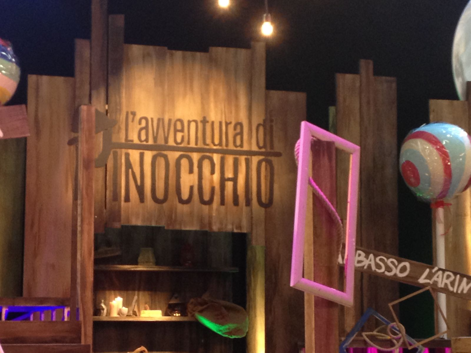PINOCCHIO SUL SET TV
