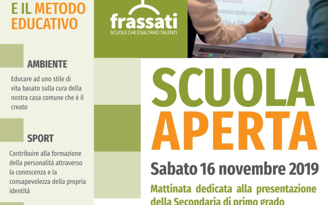 Secondaria, scuola aperta sabato 16 novembre